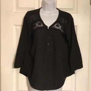 American Eagle outfitters black women's top